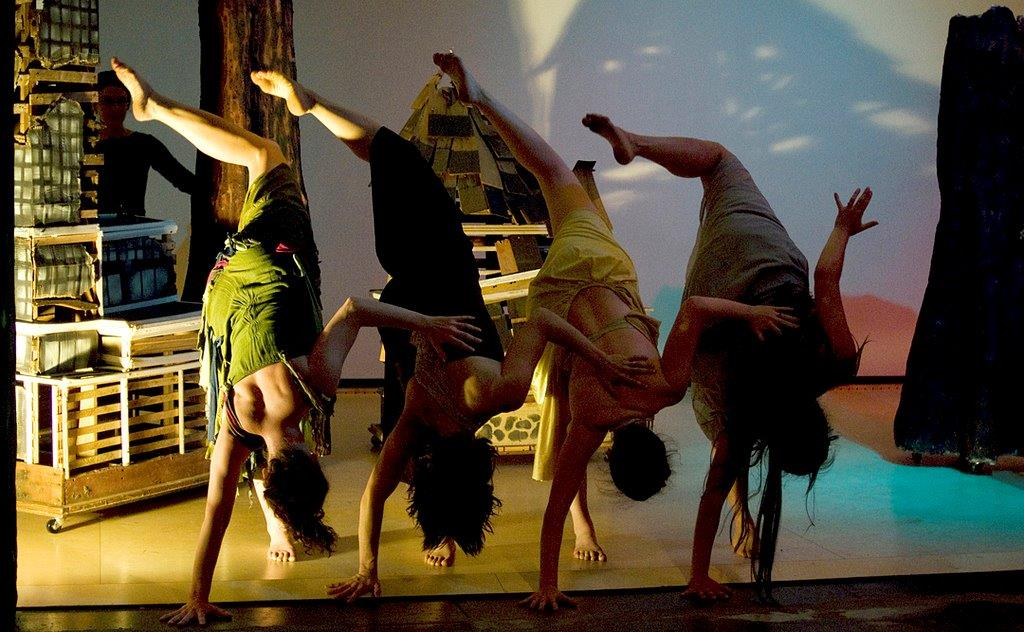 Picture of four dancers in earth tones